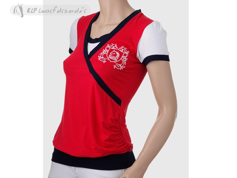 cb00f702f5 Lovas Póló Női Átlapolt Tattini - KLP Lovasfelszerelés