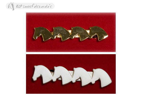Four Horse Heads Stock Pin