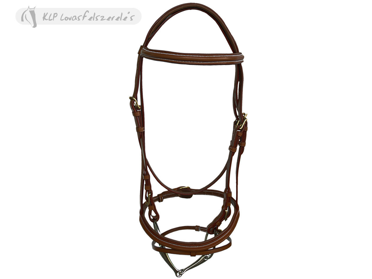 Daslö Headstall With Square Raised Padded Browband Golden