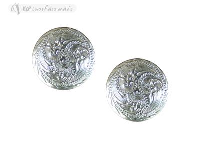 Silver Round Concho